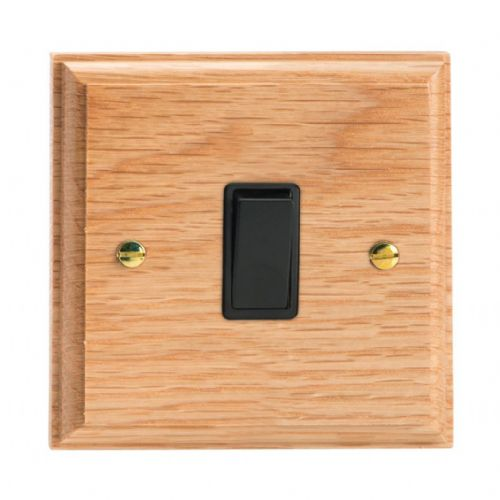 Varilight XK7OB Kilnwood Oak 1 Gang 10A Intermediate Rocker Light Switch